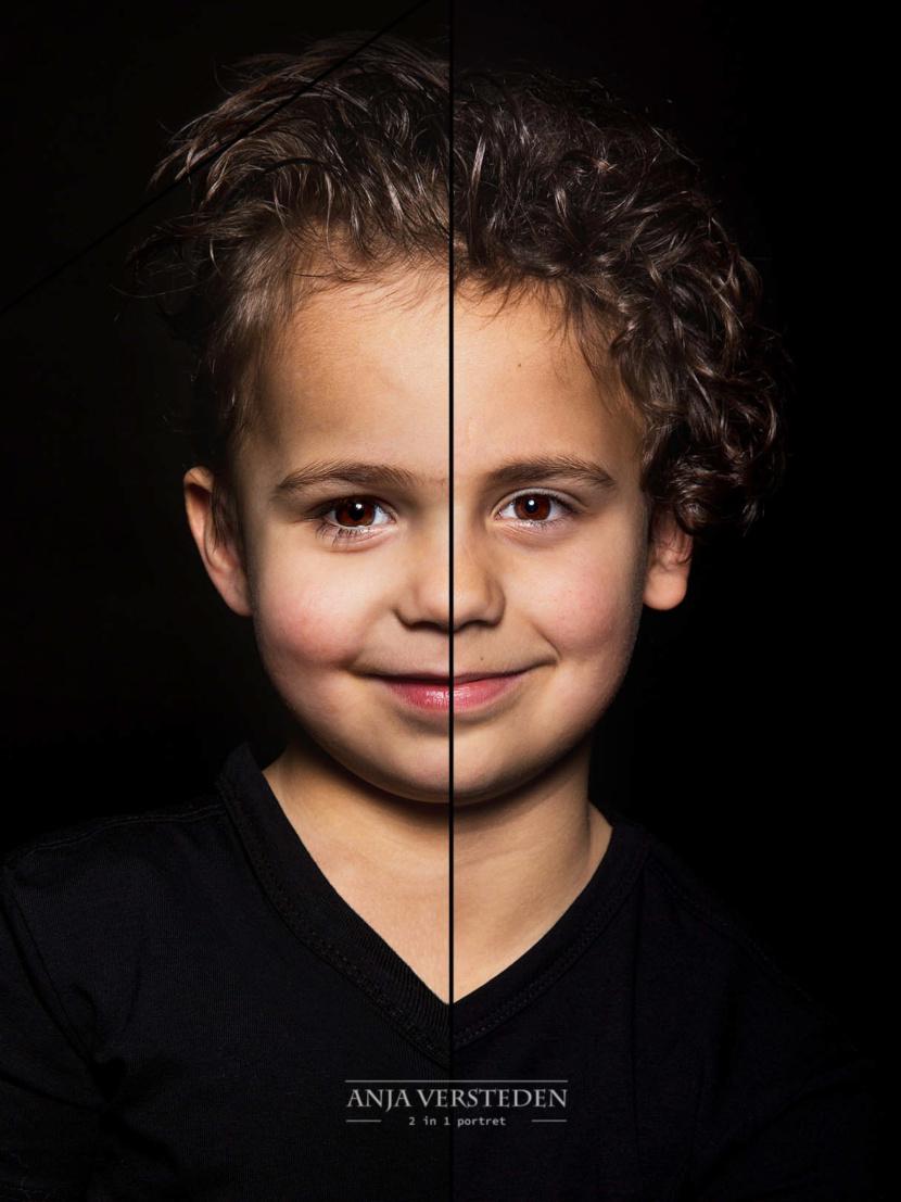 Dubbelportret   Twee gezichten in een foto