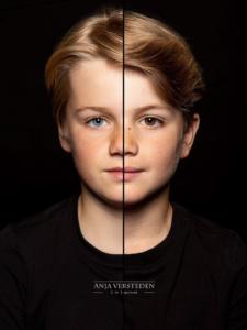 Halve gezichten portret | Twee gezichten foto