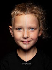 2in1 portret | twee halve gezichten in een foto